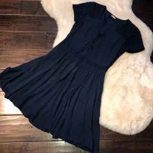 Hollister Navy Blue Short Sleeve Dress
